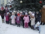 KRECIKI I ŻABKI PODZIWIAJĄ ŚWIĄTECZNY WYSTRÓJ MIASTA 13.12.2010