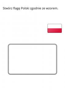 karta pracy - flaga