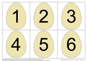 jajka z cyframi